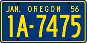 OREGON Other Vehicle Part LICENSE PLATE